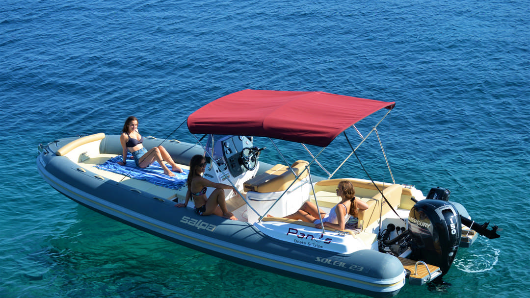 Agamemnon & Achilleus | 175 HP Sport Deluxe RIBs for hire in Paxos
