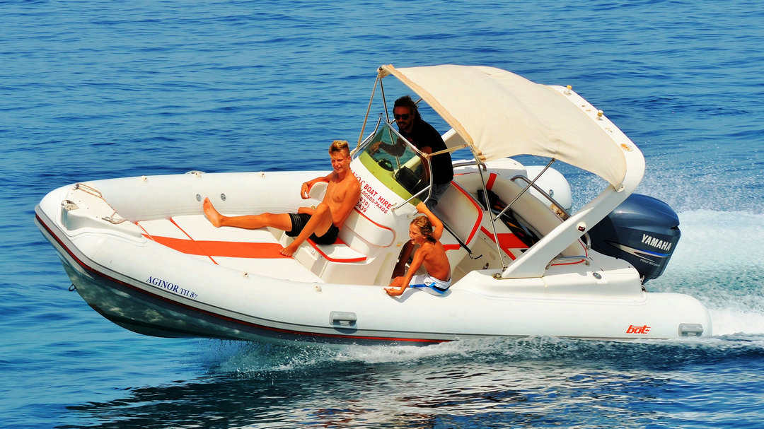 Aginor | 200 HP Sport Deluxe RIB for hire in Paxos