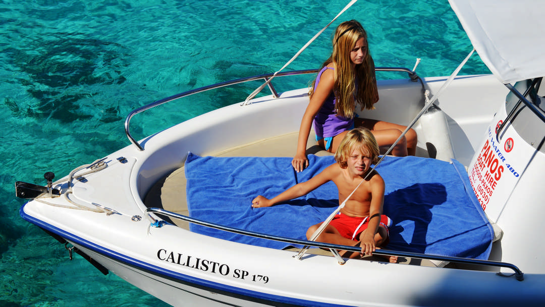 Callisto & Calipso | 30-50 HP Special Comfort Boats for rent in Paxos
