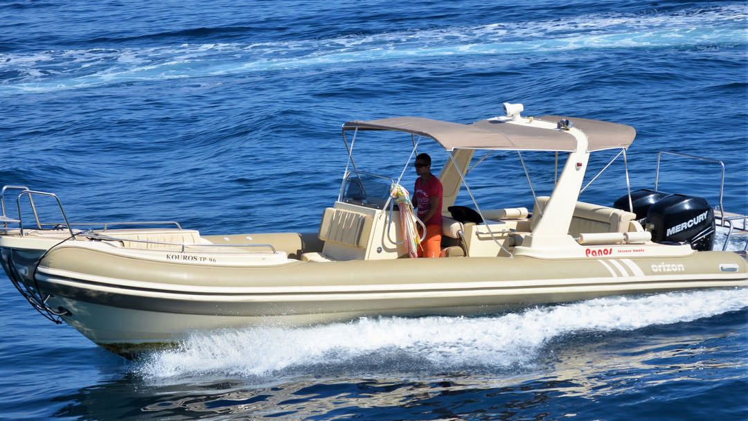 Kouros | 2 x 300 HP Luxury RIB for hire in Paxos