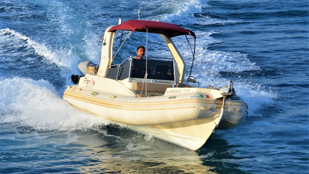 Narkissos | 175 HP Sport Deluxe RIB for hire in Paxos