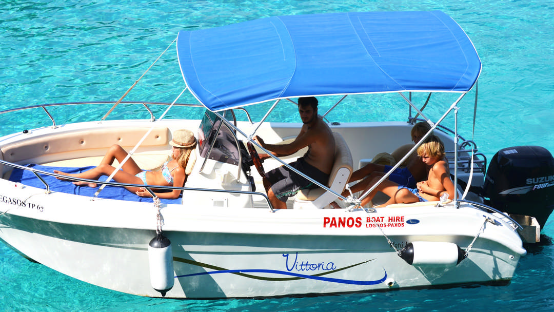 Pegasos | 115 HP Speed Deluxe Boat for hire in Paxos