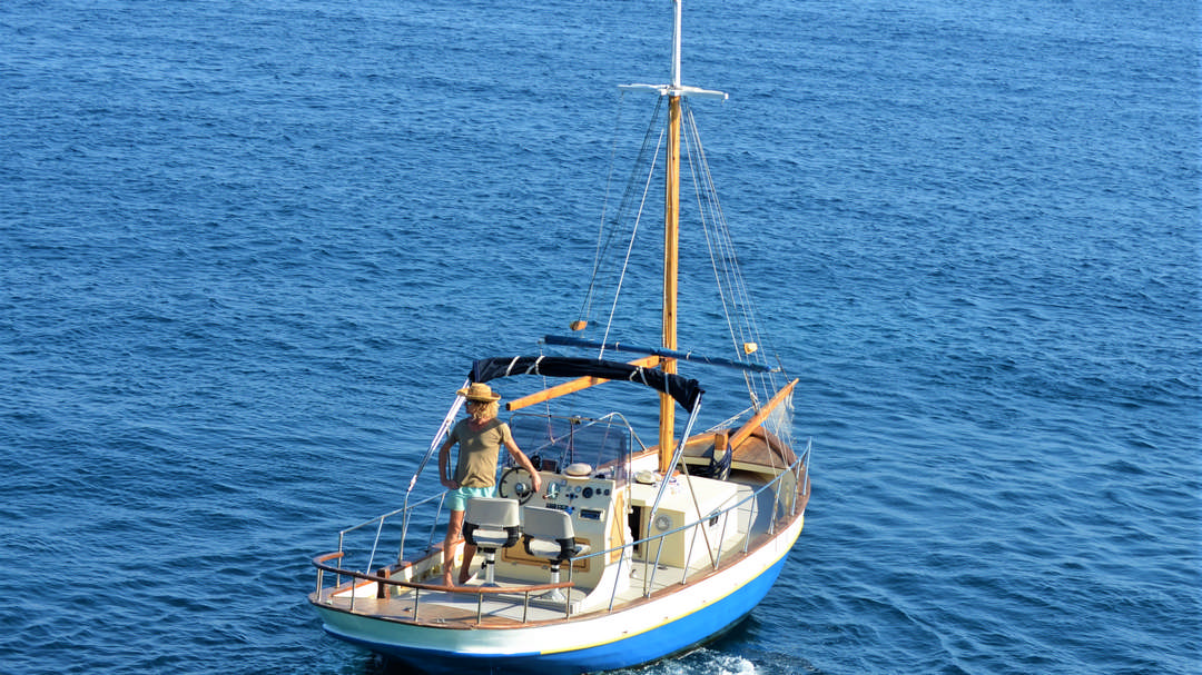 Traditional wooden boat charter in Paxos