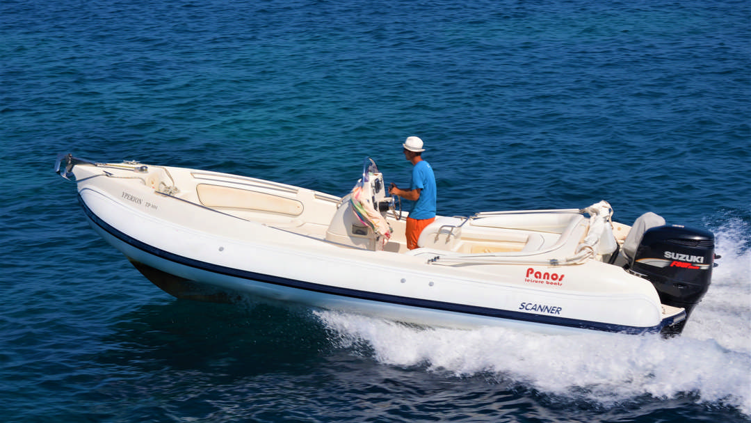 Yperion | 250 HP Sport Deluxe RIB for hire in Paxos