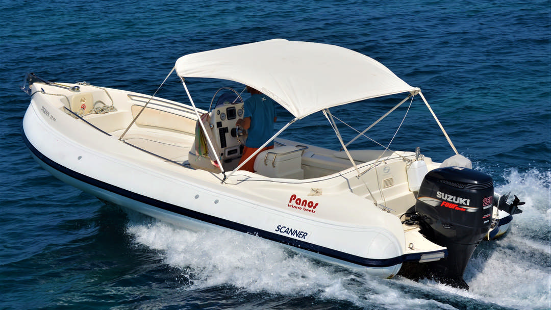 Yperion | 250 HP Sport Deluxe RIB for rent in Paxos